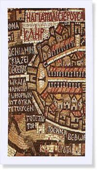 madaba, mosaic, Jerusalem map